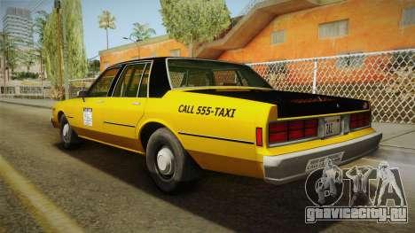 Chevrolet Caprice Taxi 1986 для GTA San Andreas вид слева