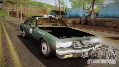 Chevrolet Caprice Taxi 1989 для GTA San Andreas