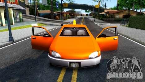 Kuruma GTA 3 Taxi для GTA San Andreas вид изнутри