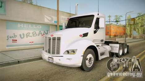 Peterbilt 579 Day Cab для GTA San Andreas вид сзади слева