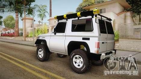 Toyota Land Cruiser Machito для GTA San Andreas вид сзади слева