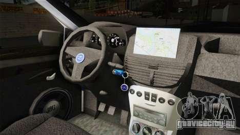 Fiat Punto Саобраћајна Полиција для GTA San Andreas вид изнутри