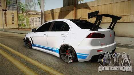 Mitsubishi Lancer EvoStreet PRO для GTA San Andreas вид слева