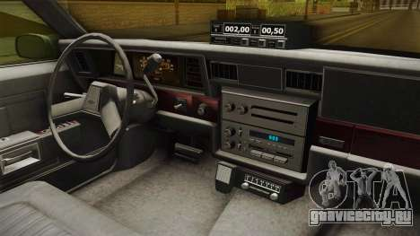 Chevrolet Caprice Taxi 1986 для GTA San Andreas вид сбоку