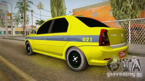 Renault Logan Taxi of Rio de Janeiro для GTA San Andreas вид слева
