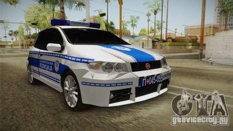 Fiat Punto Саобраћајна Полиција для GTA San Andreas