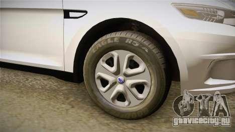 Ford Taurus Unmarked 2014 для GTA San Andreas вид сзади
