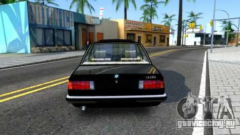 BMW 316 E21 для GTA San Andreas вид сзади слева