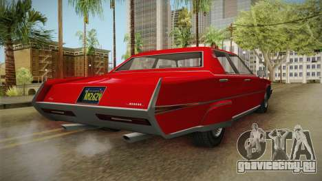 GTA 5 Albany Manana 4-doors для GTA San Andreas вид сзади слева