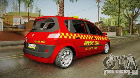 Renault Scenic Mk2 Crveni Taxi для GTA San Andreas вид слева