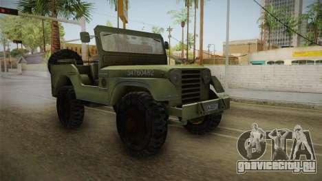 Jeep from The Bureau XCOM Declassified v2 для GTA San Andreas вид справа