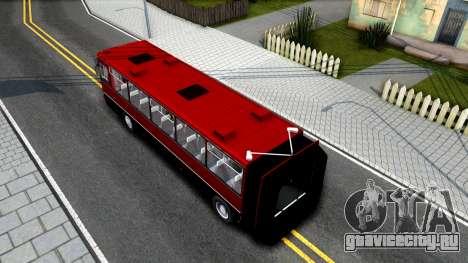 Икарус 250.89 для GTA San Andreas вид сзади
