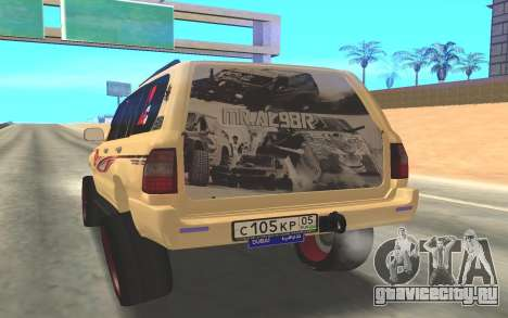 Toyota Land Cruiser 200 для GTA San Andreas вид сзади слева