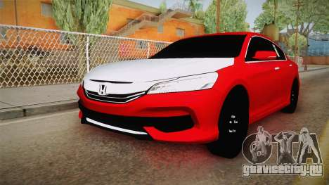 Honda Accord 2017 Hajwalla для GTA San Andreas