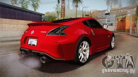 Nissan 370Z Nismo 2016 SA Plate для GTA San Andreas вид справа
