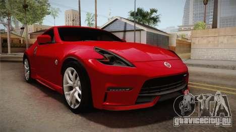 Nissan 370Z Nismo 2016 SA Plate для GTA San Andreas