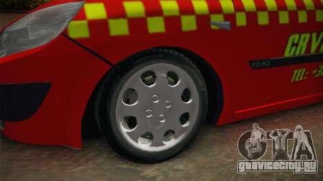 Renault Scenic Mk2 Crveni Taxi для GTA San Andreas вид сзади