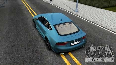 Audi RS7 Sportback для GTA San Andreas вид сзади