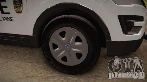 Ford Explorer 2012 Angel Pine PD для GTA San Andreas вид сзади