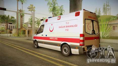 Mercedes-Benz Sprinter Turkish Ambulance для GTA San Andreas вид слева