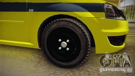 Renault Logan Taxi of Rio de Janeiro для GTA San Andreas вид справа