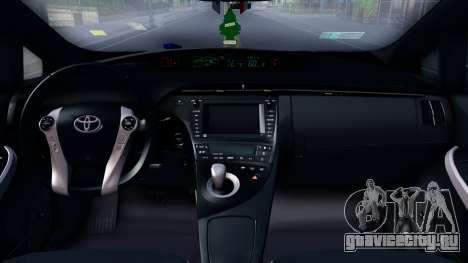 Toyota Prius Ukraine Police для GTA San Andreas вид изнутри