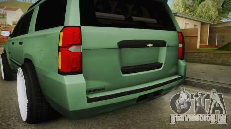 Chevrolet Tahoe GT Stance Bass Booster для GTA San Andreas вид снизу