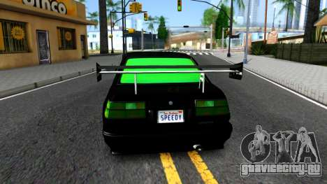 GTA 5 Karin Futo - Monster Energy для GTA San Andreas вид сзади слева