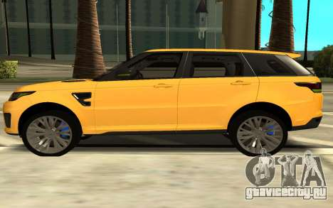 Land Rover Range Rover Sport Supercharged для GTA San Andreas вид слева