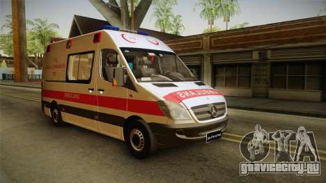 Mercedes-Benz Sprinter Turkish Ambulance для GTA San Andreas вид справа
