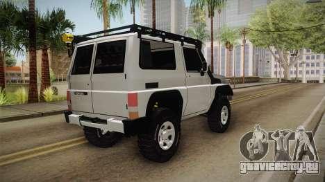 Toyota Land Cruiser Machito для GTA San Andreas вид слева