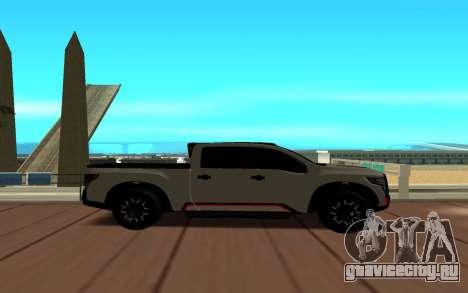 Nissan Titan для GTA San Andreas вид слева