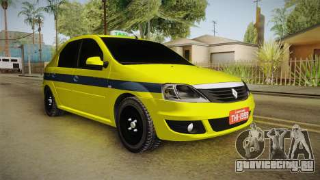 Renault Logan Taxi of Rio de Janeiro для GTA San Andreas