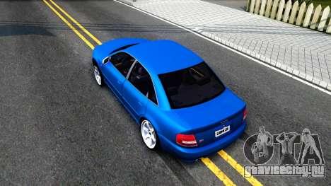 Audi S4 Dark Shark для GTA San Andreas вид сзади