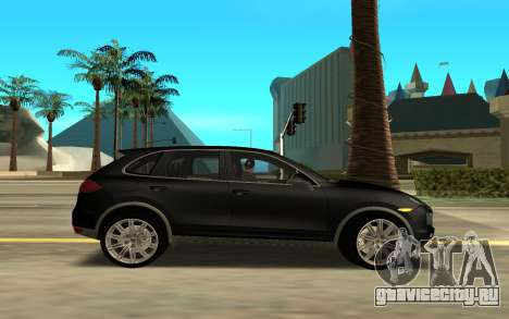 Porsche Cayenne Turbo S для GTA San Andreas вид слева