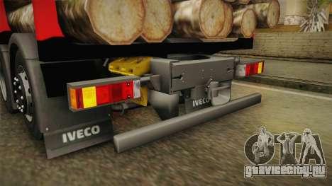 Iveco Stralis Hi-Way 560 E6 6x2 Timber v3.0 для GTA San Andreas салон