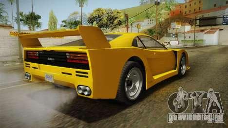 GTA 5 Grotti Turismo Classic для GTA San Andreas вид слева