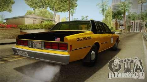 Chevrolet Caprice Taxi 1986 для GTA San Andreas вид справа