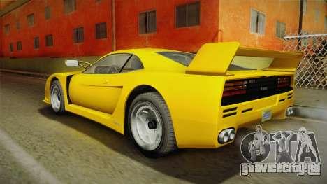 GTA 5 Grotti Turismo Classic для GTA San Andreas вид сзади слева