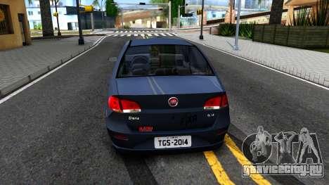 Fiat Siena для GTA San Andreas вид сзади слева