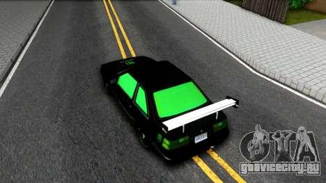 GTA 5 Karin Futo - Monster Energy для GTA San Andreas вид сзади
