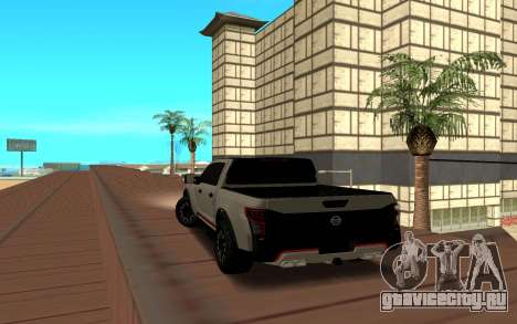 Nissan Titan для GTA San Andreas вид сзади слева
