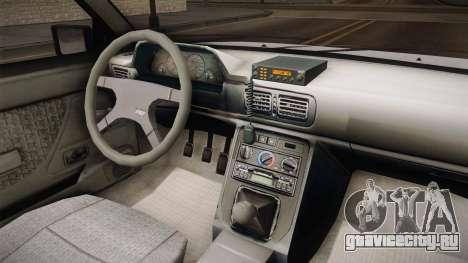 Daewoo-FSO Polonez Caro Plus Straż 1.6 GLi для GTA San Andreas вид изнутри