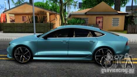Audi RS7 Sportback для GTA San Andreas вид слева