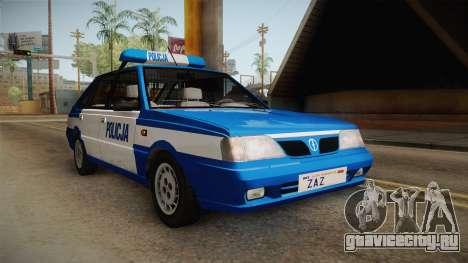 Daewoo-FSO Polonez Caro Plus Policja 2 1.6 GLi для GTA San Andreas вид справа