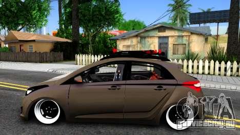 Hyundai HB20 для GTA San Andreas вид слева