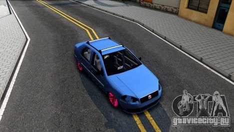 Fiat Siena для GTA San Andreas вид справа