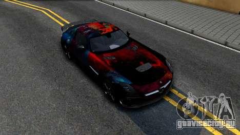 Mercedes-Benz SLS AMG Space для GTA San Andreas вид справа