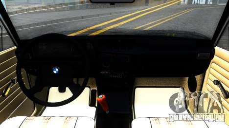 BMW 316 E21 для GTA San Andreas вид изнутри