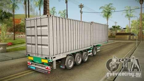 Trailer Container v1 для GTA San Andreas вид сзади слева